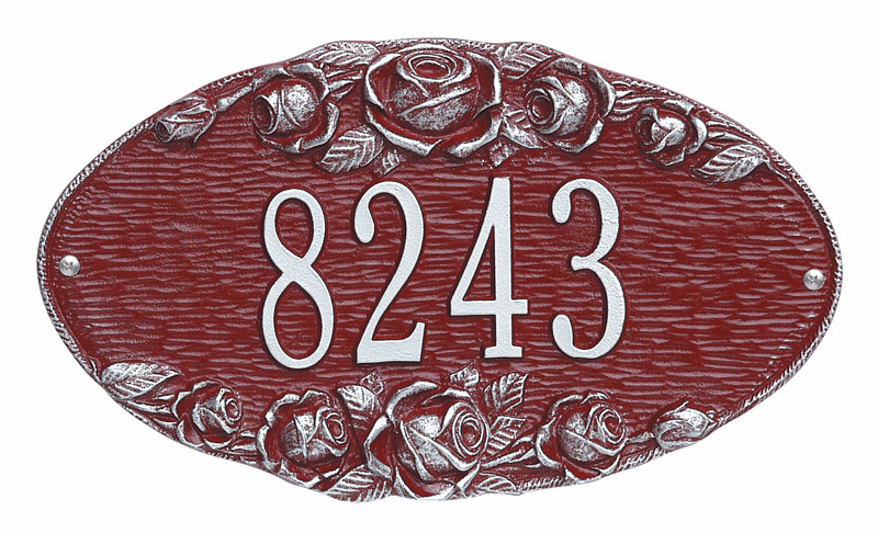 Oval and Round Address Plaques