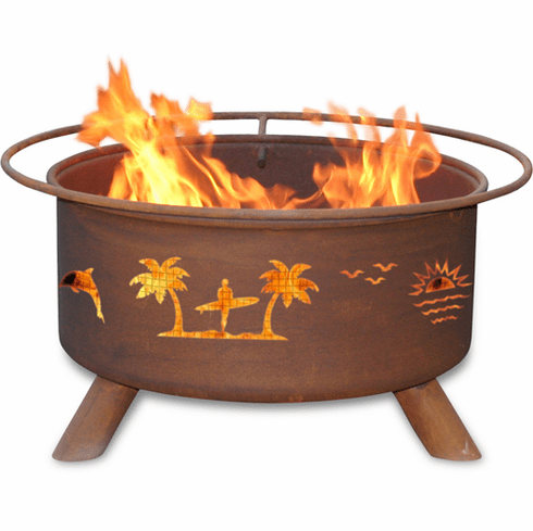 Pacific Coast Theme Fire Pit - Beach BBQ Pit