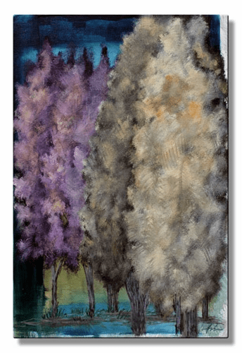 Painted Trees Wall Hanging