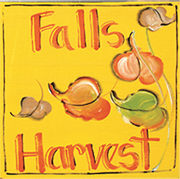 Painted Wood, Fall Harvest Square Thanksgiving Sign, 12in x 12in
