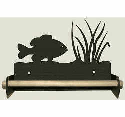 Panfish Paper Towel Holder With Wood Bar