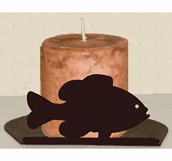 Panfish Silhouette Candle Holder