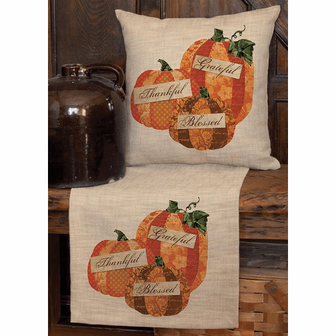 Patchwork Pumpkin Small Table Runner