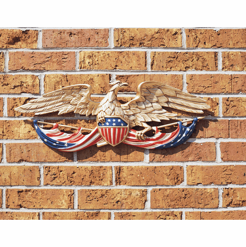 Patriotic Eagle w/Stars and Stripes - House Decor