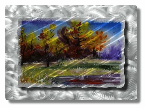 Peaceful Trees Metal Wall Hanging
