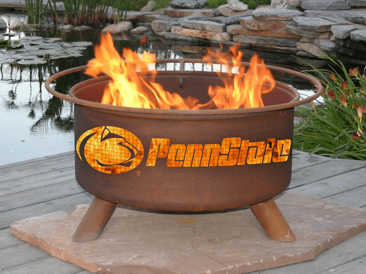 Penn State Nittany Lions Fire Pit Ring
