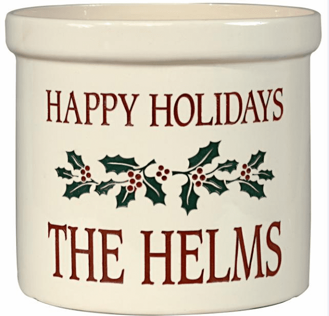 Personalized Holiday Crock