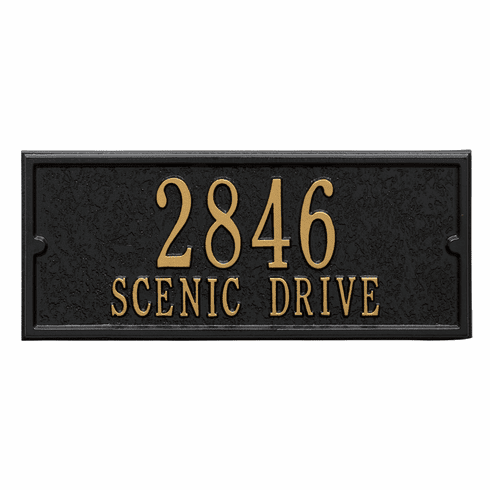 Personalized Side Plaque in Black and Gold
