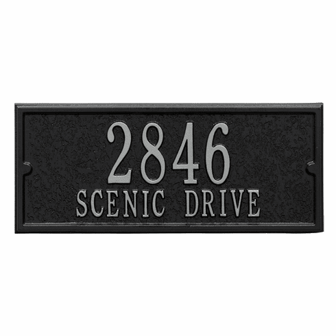 Personalized Side Plaque in Black and Silver