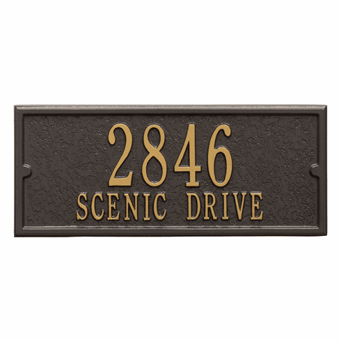 Personalized Side Plaque in Bronze and Gold