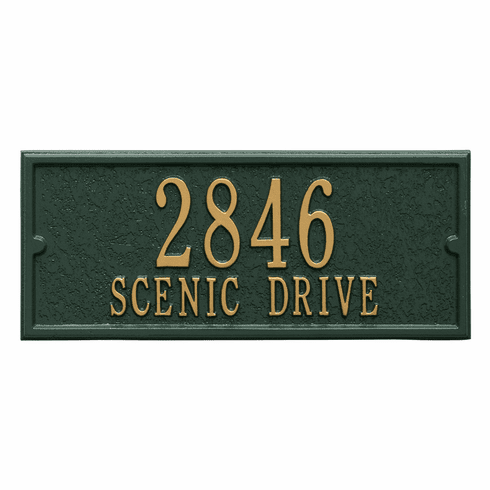 Personalized Side Plaque in Green and Gold