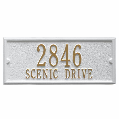 Personalized Side Plaque in White and Gold