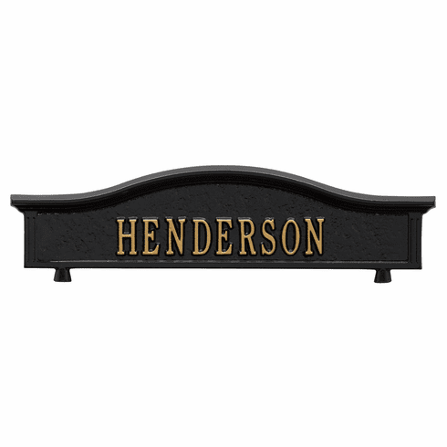 Personalized Two Sided Topper in Black and Gold