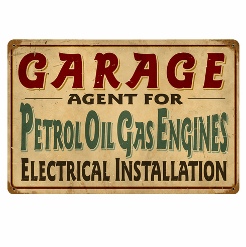 Petrol Garage Sign - Oil and Gas Sign