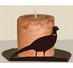 Pheasant Silhouette Candle Holder