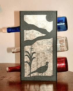 Pheasant Wine Bottle Rack