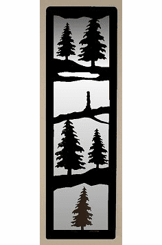 Pine Tree Large Accent Mirror Wall Art