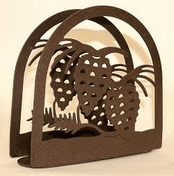 Pinecone Arched Napkin and Letter Holder