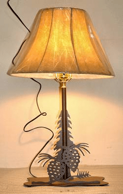 Pinecone Desk/Night Stand Lamp