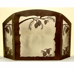 Pinecone Fireplace Screen in Melinda Style