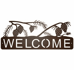 Pinecone Horizontal Welcome Sign