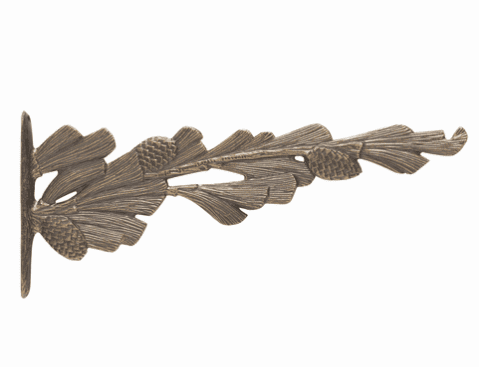 Pinecone Nature Hook - French Bronze
