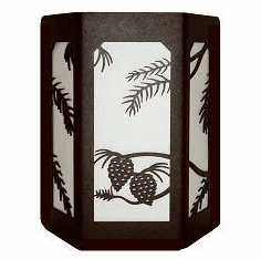 Pinecone Open Sides Sconce Wall Light