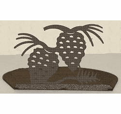 Pinecone Silhouette Candle Holder