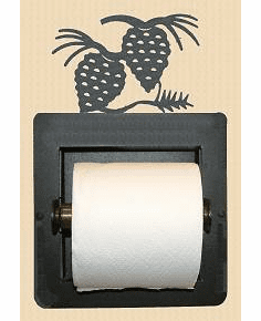 Pinecone Toilet Paper Holder (Recessed)