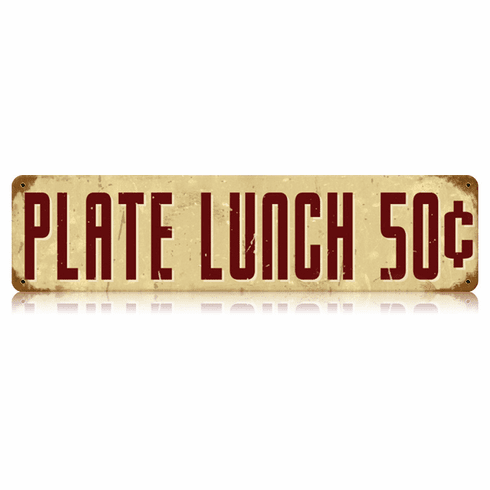 Plate Lunch 50 Cents - Small Diner Sign