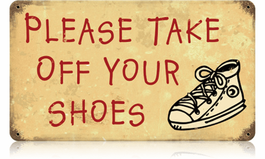Please Take Off Your Shoes - Indoor Sign