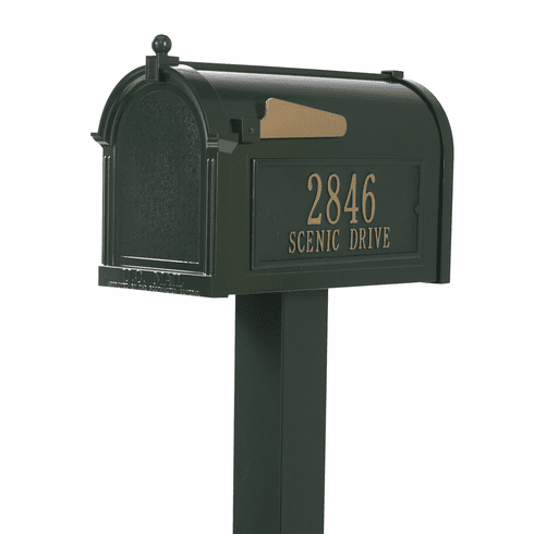 Premium Mailbox Package in Green