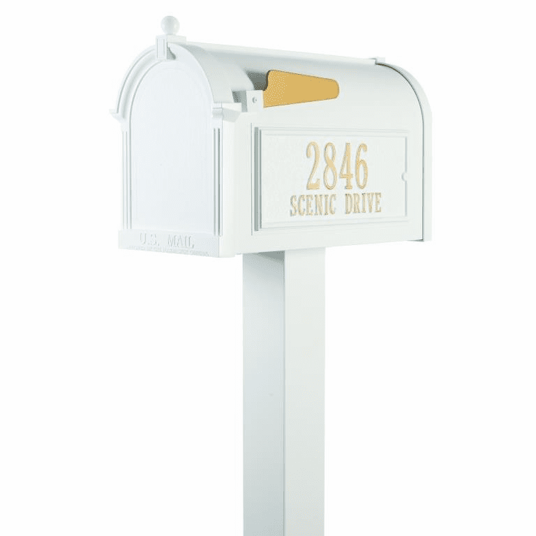 Premium Mailbox Package in White