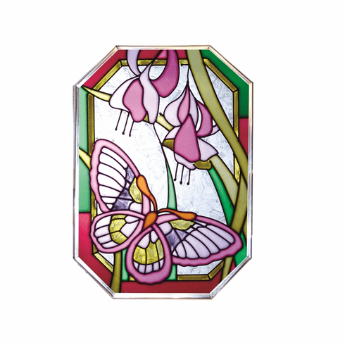 Pretty Butterfly Stained Glass Art Glass