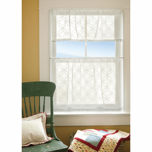 Prima Eyelet Valance with Trim