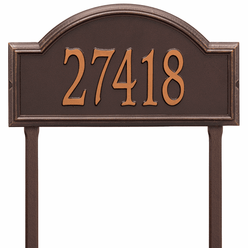Providence Arch Estate Lawn One Line Plaque in Antique Copper