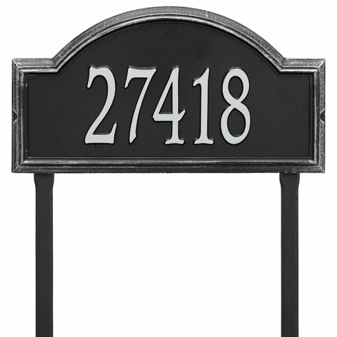 Providence Arch Estate Lawn One Line Plaque in Black and Silver