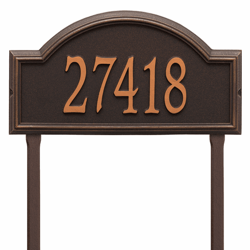 Providence Arch Estate Lawn One Line Plaque in Oil Rubbed Bronze