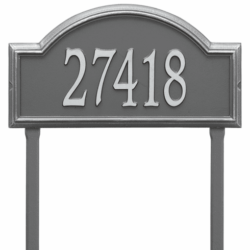 Providence Arch Estate Lawn One Line Plaque in Pewter and Silver