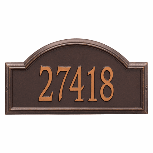Providence Arch Estate Wall One Line Plaque in Antique Copper