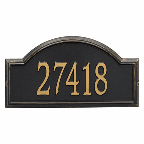 Providence Arch Estate Wall One Line Plaque in Black and Gold