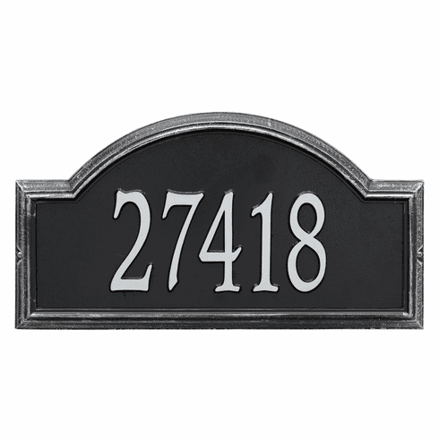 Providence Arch Estate Wall One Line Plaque in Black and Silver