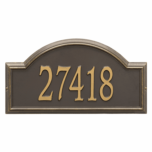 Providence Arch Estate Wall One Line Plaque in Bronze and Gold