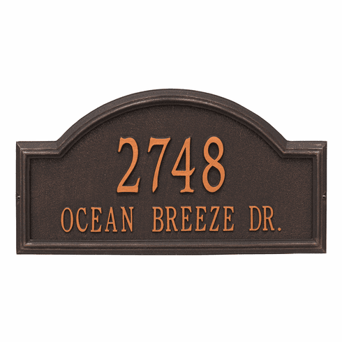 Providence Arch Estate Wall Two Line Plaque in Oil Rubbed Bronze