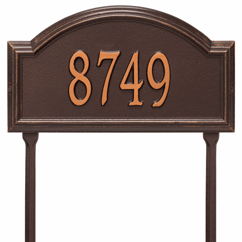 Providence Arch Standard Lawn One Line Plaque in Antique Copper
