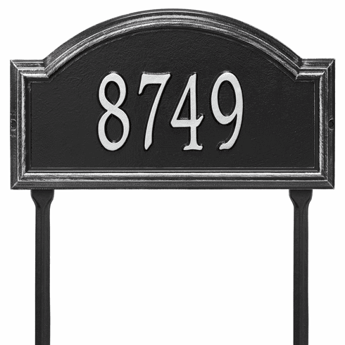 Providence Arch Standard Lawn One Line Plaque in Black and Silver