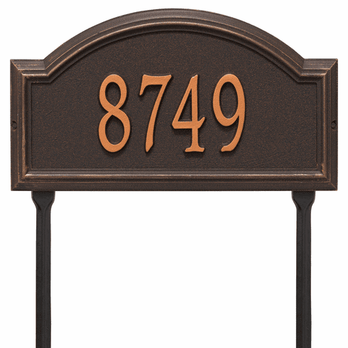 Providence Arch Standard Lawn One Line Plaque in Oil Rubbed Bronze