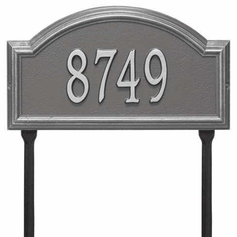 Providence Arch Standard Lawn One Line Plaque in Pewter and Silver