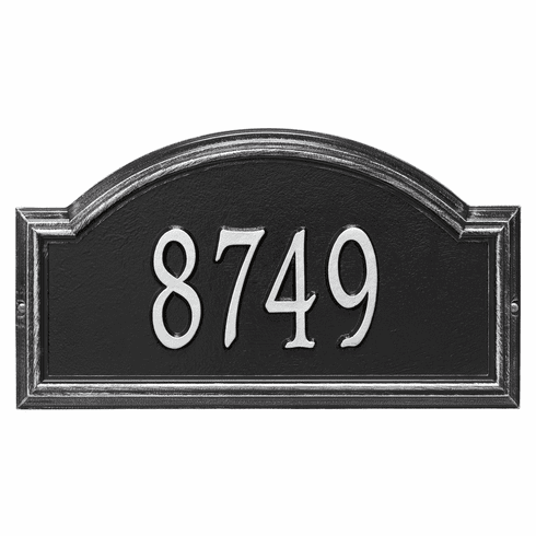 Providence Arch Standard Wall One Line Plaque in Black and Silver
