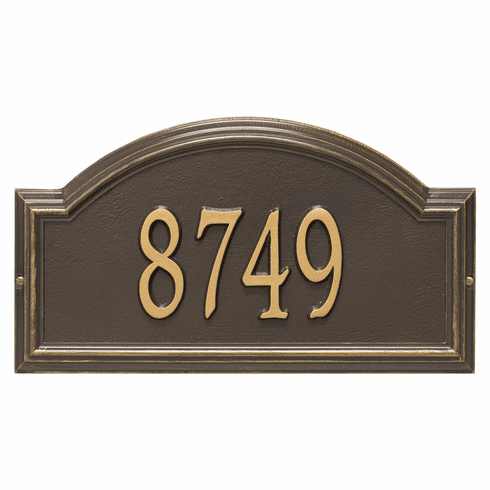 Providence Arch Standard Wall One Line Plaque in Bronze and Gold